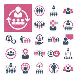 HR, Recruitment and Management (Part 1). A selection of icons related to HR, Recruitment and Management royalty free illustration