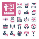 HR, Recruitment and Management (Part 3). A selection of icons related to HR, Recruitment and Management Stock Images