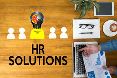 HR SOLUTIONS , choosing the perfect candidate to work , searching for professional HR SOLUTIONS , HR SOLUTIONS Business team han royalty free illustration