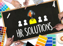 HR SOLUTIONS , choosing the perfect candidate to work , searching for professional HR SOLUTIONS , HR SOLUTIONS Business team han vector illustration