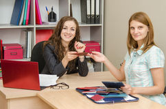HR Specialist will interview a new employee Royalty Free Stock Photo