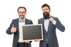 Hr team hiring positions. Men successful entrepreneurs white background. Join our business team. Business people concept. Men bearded guys wear formal suits stock photos