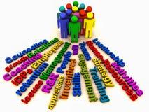 Hr zarządzań ludzie ilustracja wektor