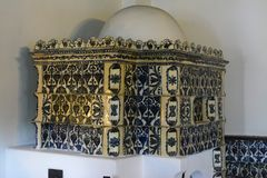 Hrabiowski Dracula kasztelu pokój - kuchnia obrazy stock