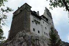 Hrabiowski Dracula kasztelu widok od outside fotografia royalty free