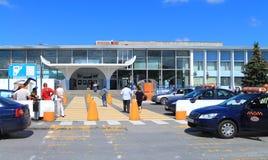 Hrabrovo International Airport Kaliningrad. KALININGRAD, RUSSIA — JULY 21, 2014: Hrabrovo International Airport Kaliningrad Royalty Free Stock Images