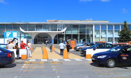 Hrabrovo Internationale Luchthaven Kaliningrad Royalty-vrije Stock Afbeeldingen