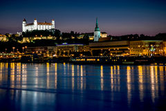 Hrad Castle at dusk. Hrad Castle, Bratislava, Slovakia, Europe, at dusk Royalty Free Stock Photography