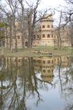 Hrad de Janův, le château de janv., Lednice, République Tchèque, Moravie Image libre de droits