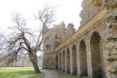 Hrad de Janův, le château de janv., Lednice, République Tchèque, Moravie Images stock