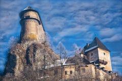 Hrad de Oravsky do castelo de Orava slovakia imagem de stock