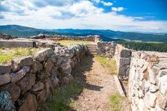 Hrad de Pusty del castillo, Eslovaquia Imagen de archivo