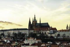 Hrad del ½ del skà del ¾ de PraÅ - castillo de Praga Foto de archivo libre de regalías