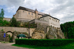 Hrad Kost, Kost Castle, gothic medieval castle near Turnov, Czech Republic royalty free stock images