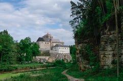 Hrad Kost, Kost slott, gotisk medeltida slott nära Turnov, Czec Royaltyfri Foto