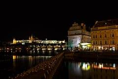Hradcananacht Prag - nocni Praha Royalty-vrije Stock Foto's