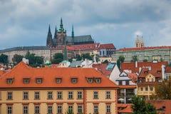 Hradcany区在布拉格市的中心 库存照片