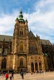 Hradcany城堡的St Vitus大教堂 库存图片