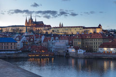 Hradcany Castle seen from charles bridge Royalty Free Stock Photography