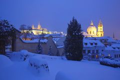 Hradcany castle in winter Royalty Free Stock Image