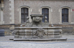 Hradcany courtyard Water Fountain from Prague in Czech Republic Royalty Free Stock Images