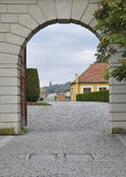 Hradcany entrance from Prague in Czech Republic Royalty Free Stock Photos