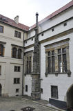 Hradcany Palace courtyard facade from Prague in Czech Republic Royalty Free Stock Photos