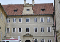 Hradcany Palace courtyard facade from Prague in Czech Republic Royalty Free Stock Photo