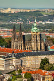 The Hradcany (Prague) and Cathedral of St. Vitus. Royalty Free Stock Photos
