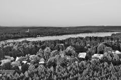 2016/08/07 - Hradcany, república checa - aeroporto militar na área anterior Ralsko do treino militar, nos anos 1968-1991 ele wa Imagens de Stock