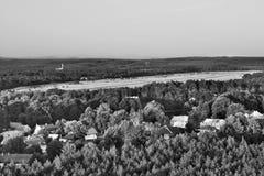 2016/08/07 - Hradcany, República Checa - aeropuerto militar en el área anterior Ralsko del entrenamiento militar, en los años 196 Imagenes de archivo