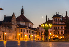 Hradcany Square in Prague, Czech Republic Royalty Free Stock Photo