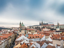 Hradcany and St. Nicholas Church in Prague Stock Images