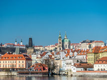 Hradcany and St. Nicholas in Prague Royalty Free Stock Images
