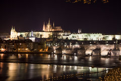 Hradcany and st. vitus cathedral in prague Stock Image