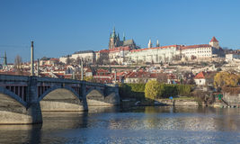 Hradcany and st. vitus cathedral in prague Royalty Free Stock Images