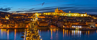 Prague Castle. View of Prague Castle and Charles Bridge royalty free stock images