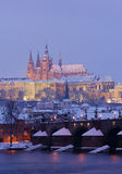 Hradcany in winter, Prague Stock Image