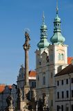Hradec Kralove, Czech republic. Church of the Assumption in the Great Square in town Hradec Kralove, Czech republic Stock Images