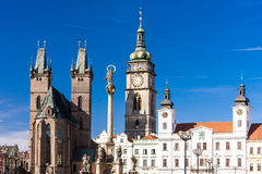 Hradec Kralove, Czech Republic. Large Square, Hradec Kralove, Czech Republic Stock Photos