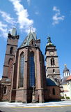 Hradec Krolovy, Czech Rep: Church of Holy Ghost Stock Images