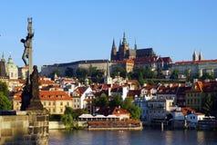 Hradschin castle over Charles bridge, Prague, Czech Republic Royalty Free Stock Image