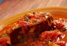 Hraime- Libyan prepared fish Royalty Free Stock Photos