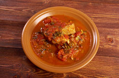 Hraime- Libyan prepared fish Stock Photography