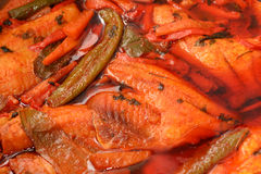 Hraimeh Spicy Fish dish Royalty Free Stock Photo