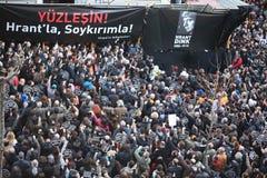 Hrant Dink Denkmal in Istanbul Stockbilder