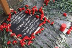 Hrant Dink Denkmal in Istanbul Stockbild