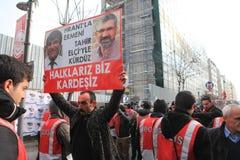 Hrant Dink Denkmal in Istanbul Stockfoto