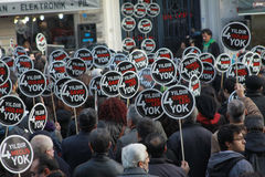 Hrant Dink memorial in Istanbul a show of diversit Stock Images