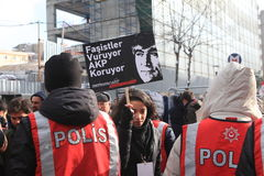 Hrant Dink Memorial in Istanbul. Royalty Free Stock Photography